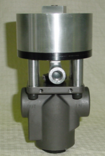 Air operated shut off valve