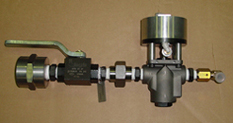 Combination of shut off valve and ball valve