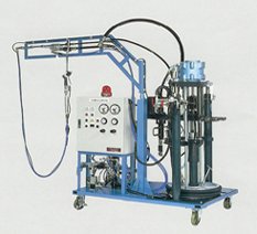 2 Components Metering, Mixing and Dispensing System ( main material in a drum container)