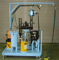 SUPER FLOW 2 components resin metering, mixing and dispensing equipment